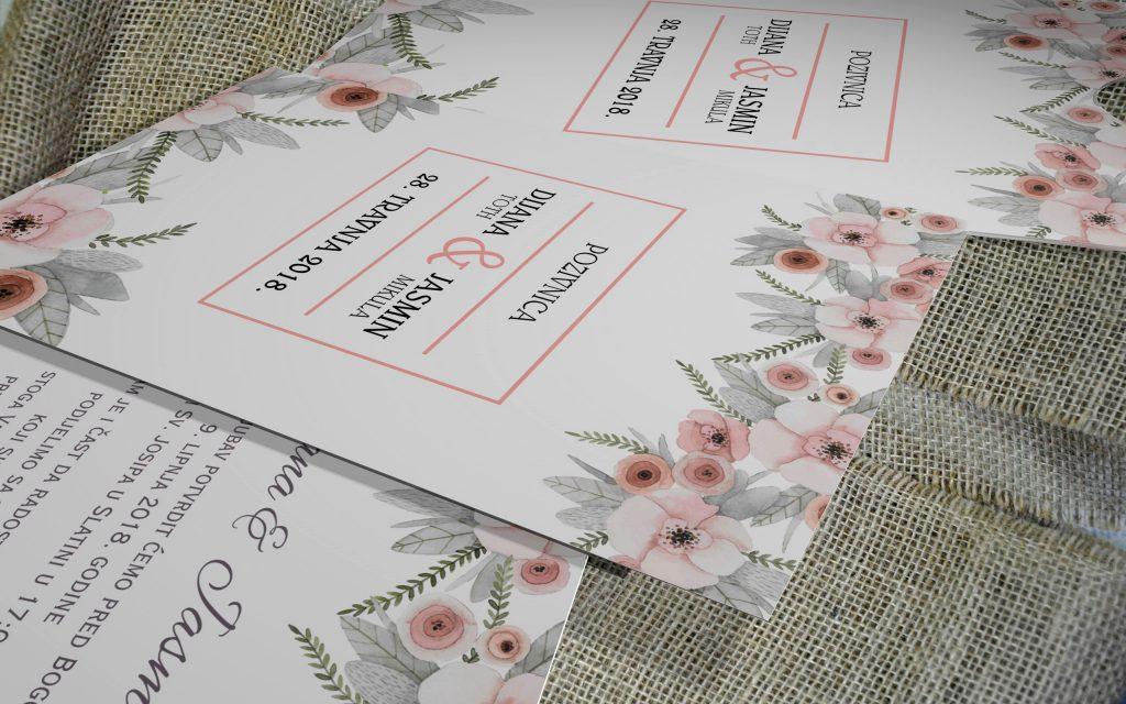 Pozivnica za vijenčanje 13×18 etui 06