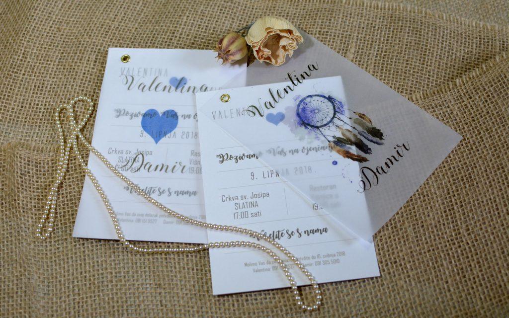 Pozivnica za vjenčanje 12×17 paus
