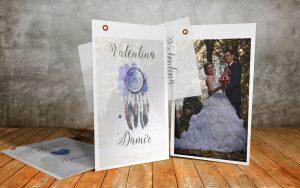 Zahvalnica za vjenčanje 10×15 paus 01