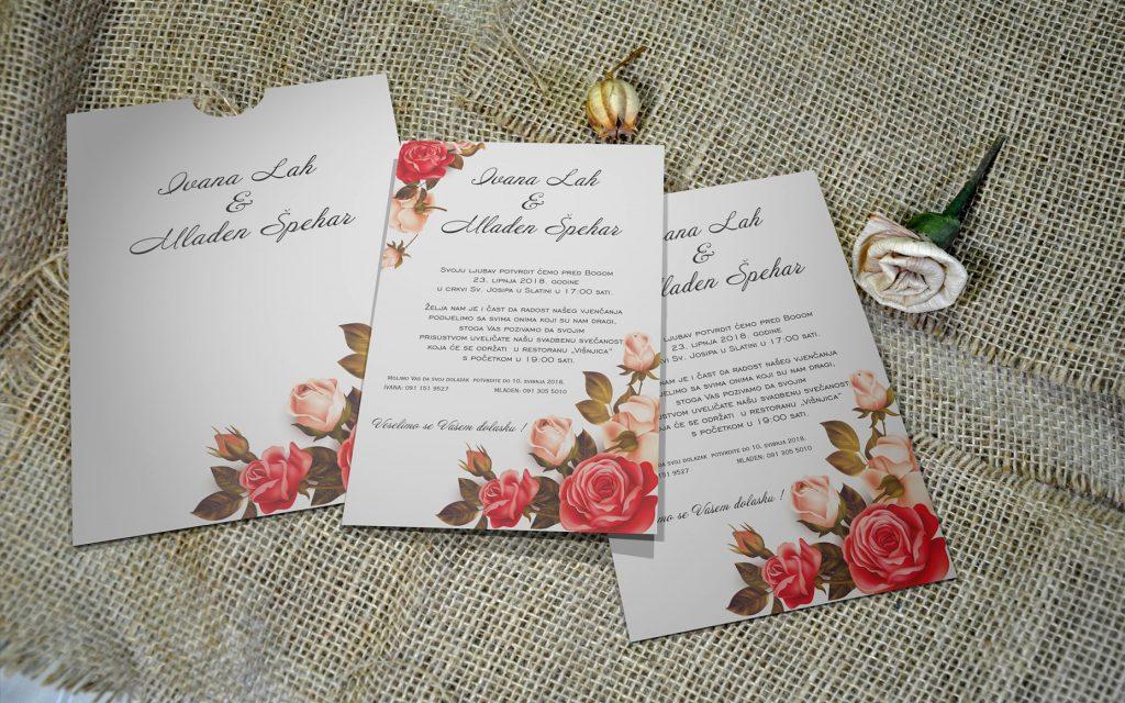 Pozivnica za vjenčanje 13×18 etui 12