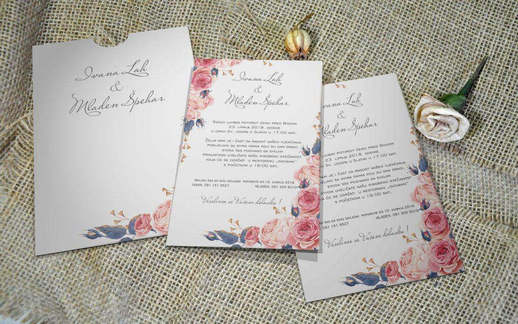 Pozivnica za vjenčanje 13×18 etui 13