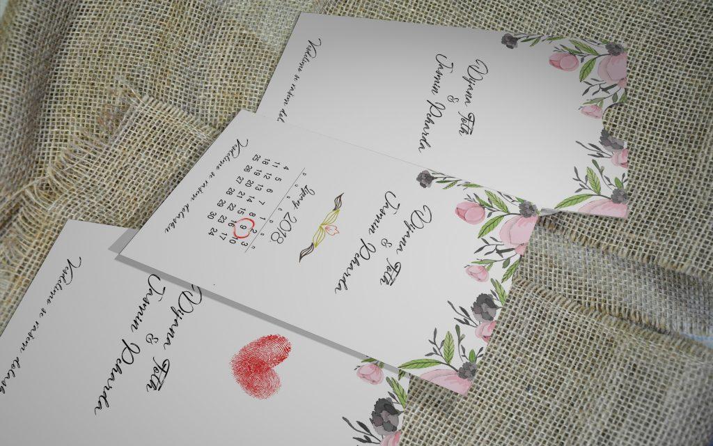 Pozivnica za vjenčanje 13×18 etui 11
