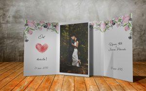 Zahvalnica za vjenčanje 16×21 preklop 02