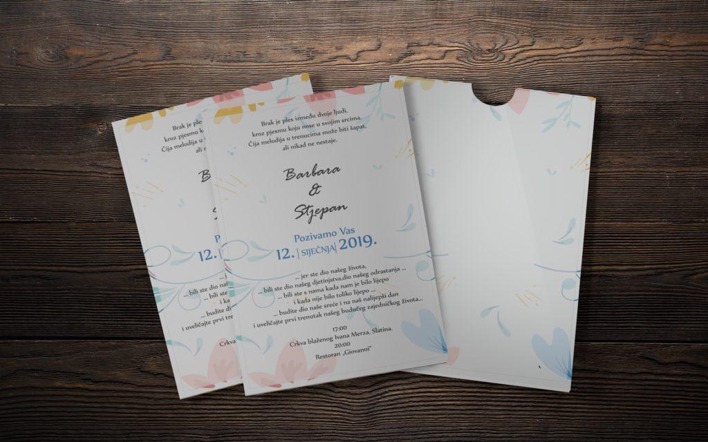 Pozivnica za vjenčanje 13×18 jednodjelna M15