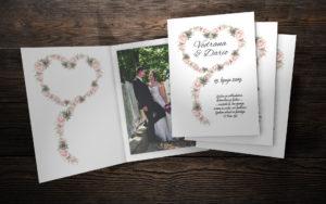 Zahvalnica za vjenčanje 11,5×17 M3