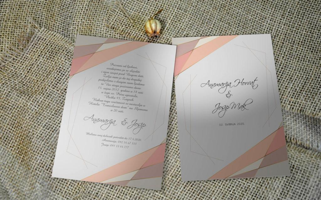 Pozivnica za vjenčanje PoM26