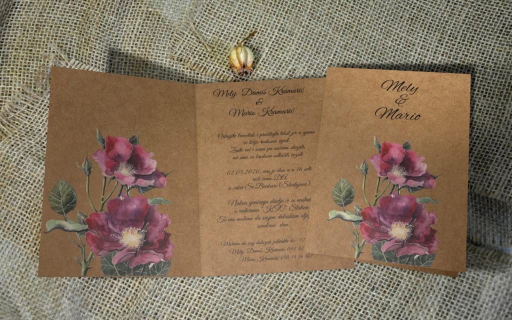 Pozivnica za vjenčanje PoM27