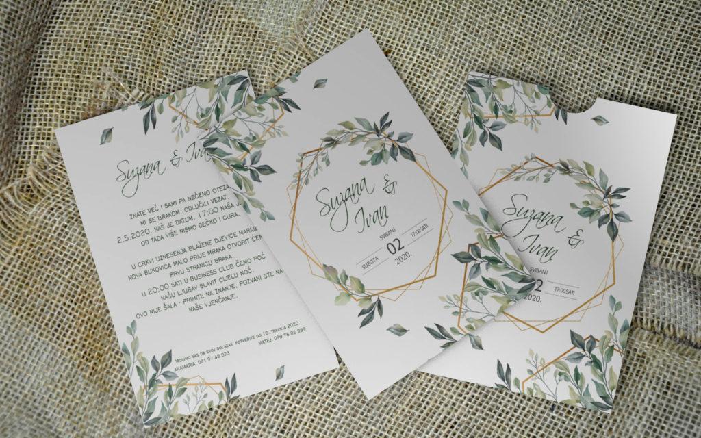Pozivnica za vjenčanje PoM29