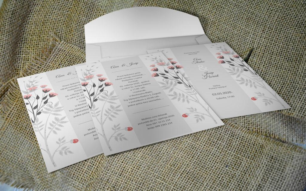 Pozivnica za vjenčanje PoM41