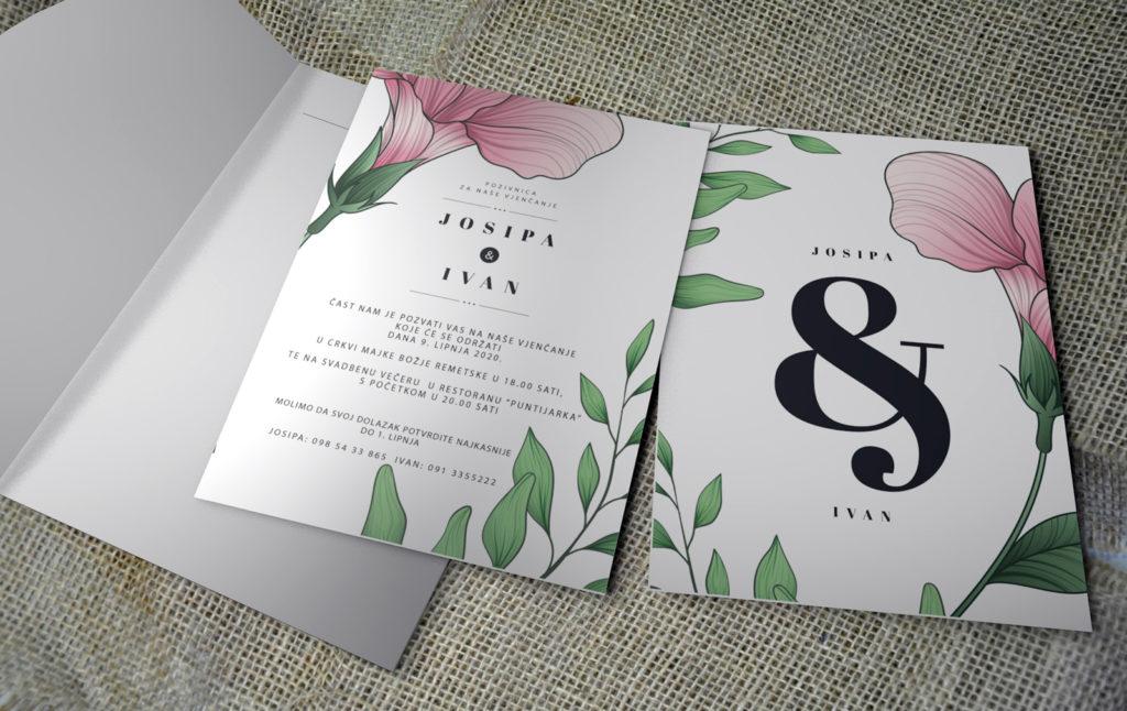 Pozivnica za vjenčanje PoM40