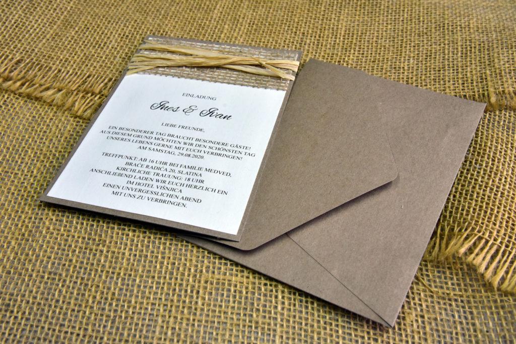 Pozivnica za vjenčanje PoM31