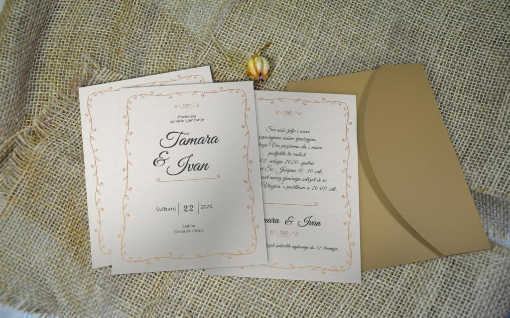 Pozivnica za vjenčanje PoM44