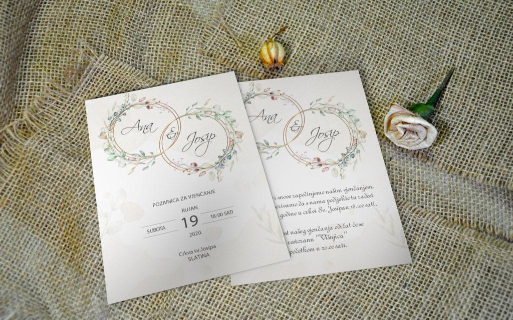 Pozivnica za vjenčanje PoM47