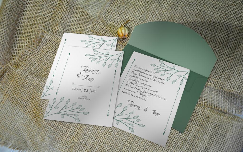 Pozivnica za vjenčanje PoM45
