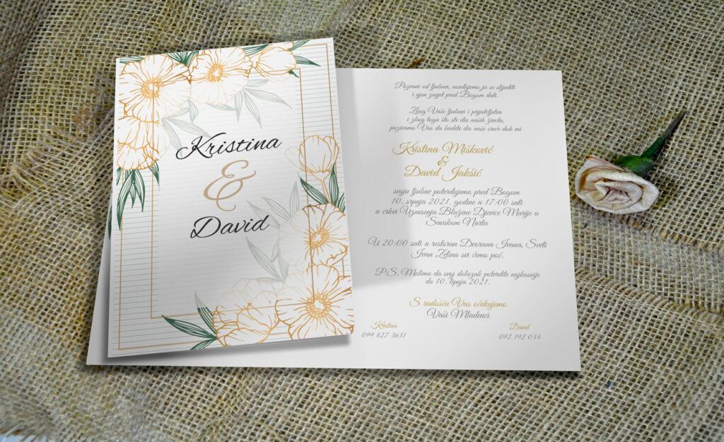 Pozivnica za vjenčanje PoM48