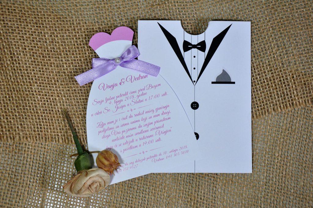 Pozivnica za vjenčanje 12×16 etui mladenci
