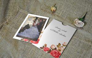 Zahvalnica za vjenčanje 13×18 etui ruže 01