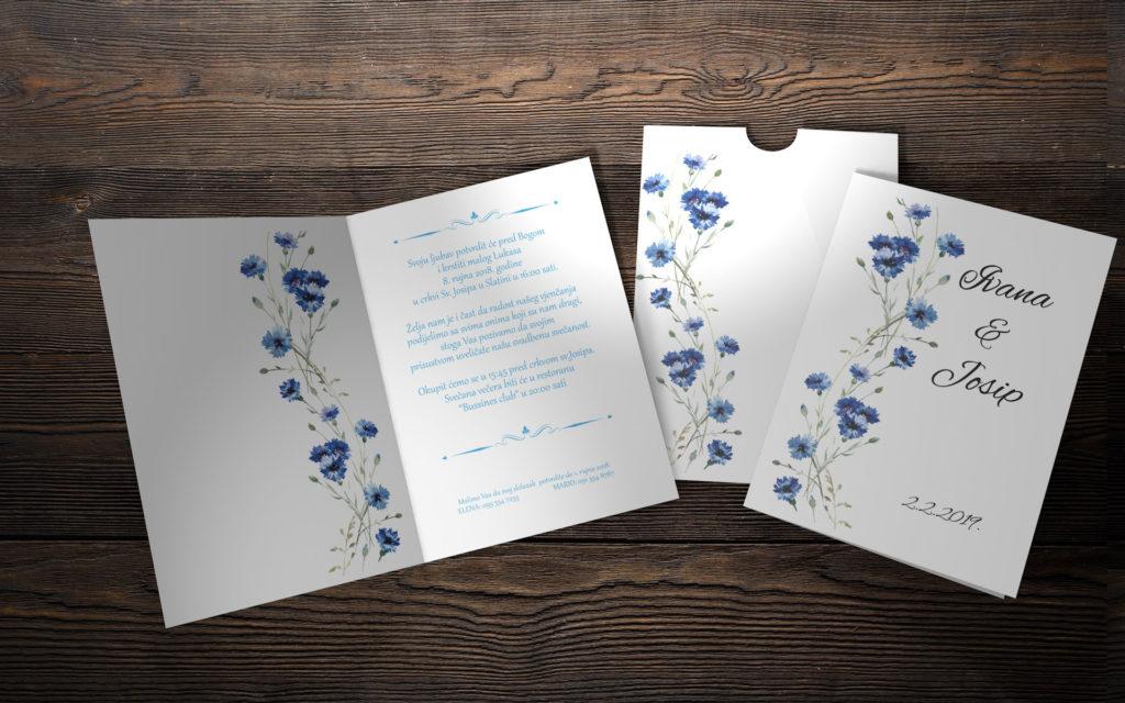 Pozivnica za vjenčanje 13×18 preklop