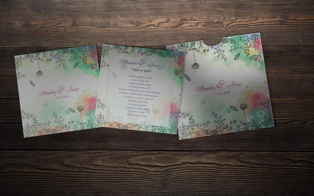 Pozivnica za vjenčanje 14×14 etui M17