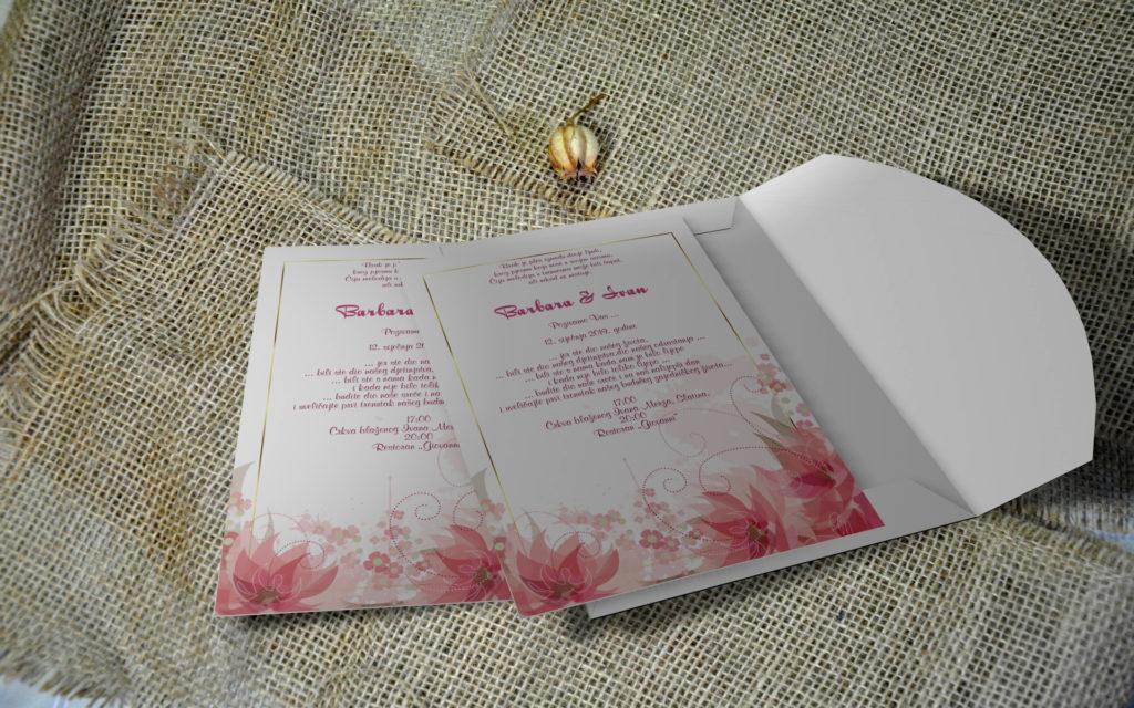 Pozivnica za vjenčanje 13×18 M19