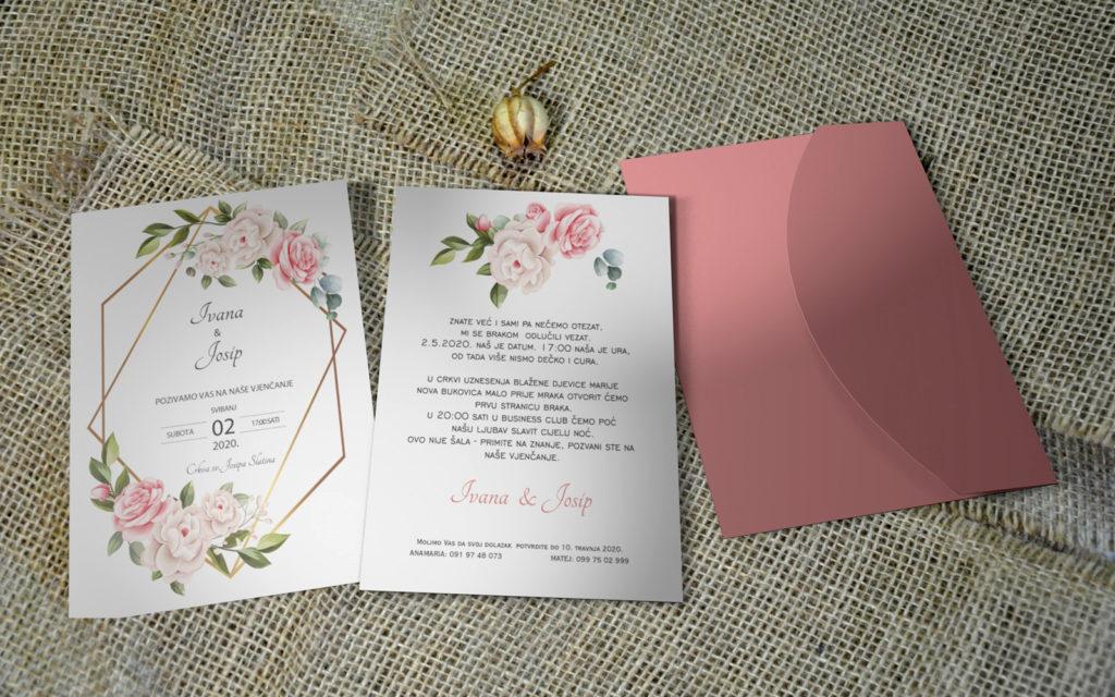 Pozivnica za vjenčanje PoM28