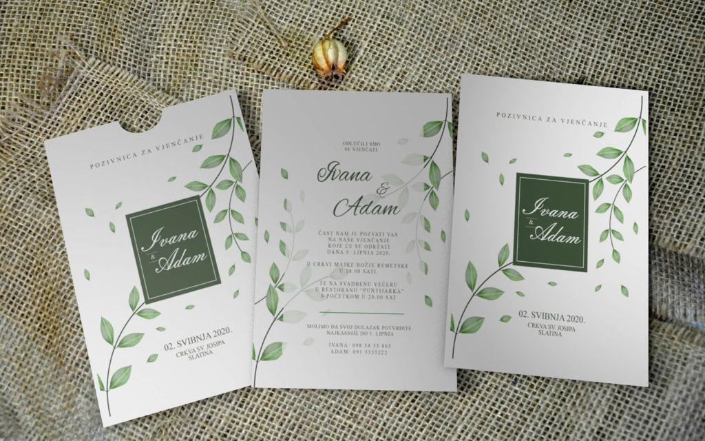 Pozivnica za vjenčanje PoM30